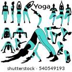 vector silhouettes of girl in... | Shutterstock .eps vector #540549193