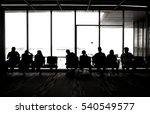 silhouette of people waiting on ... | Shutterstock . vector #540549577