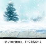 merry christmas and happy new... | Shutterstock . vector #540552043