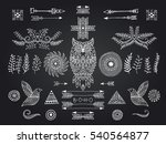 set of ethnic elements. modern... | Shutterstock .eps vector #540564877