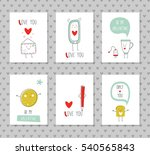 Set Of 6 Romantic Cards...