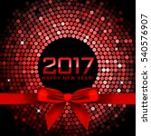 2017 background with red disco... | Shutterstock . vector #540576907