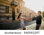 beautiful and happy woman and... | Shutterstock . vector #540592297