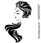 illustration of women long hair ... | Shutterstock .eps vector #540595987
