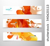 set of abstract colorful web... | Shutterstock .eps vector #540620113