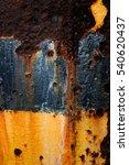 ferrous oxide on iron surface | Shutterstock . vector #540620437