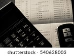 close up of calculator  car... | Shutterstock . vector #540628003