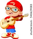 small child wearing a red hat... | Shutterstock .eps vector #540629083