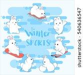 winter sports. snowboard ...   Shutterstock .eps vector #540636547