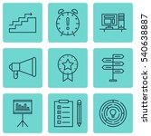 set of 9 project management... | Shutterstock .eps vector #540638887