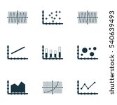 set of graphs  diagrams and... | Shutterstock .eps vector #540639493