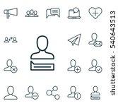 set of 16 social network icons. ... | Shutterstock .eps vector #540643513
