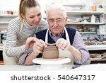 senior man with teacher in...   Shutterstock . vector #540647317