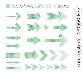 vector design set   watercolor... | Shutterstock .eps vector #540660877