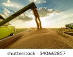 combine harvester in action on... | Shutterstock . vector #540662857