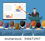 businessman in suit and tie... | Shutterstock .eps vector #540671947
