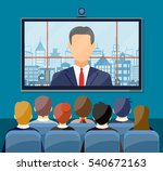 video conference concept. room... | Shutterstock .eps vector #540672163