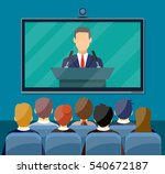 video conference concept. room... | Shutterstock .eps vector #540672187