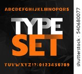 decorative alphabet typeface.... | Shutterstock .eps vector #540680077