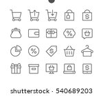 shopping pixel perfect well... | Shutterstock .eps vector #540689203