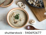 cream of mushroom soup for... | Shutterstock . vector #540692677