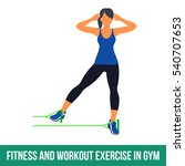 workout with resistance band.... | Shutterstock . vector #540707653