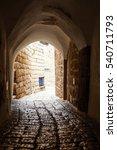 stone old city jaffa in tel aviv | Shutterstock . vector #540711793