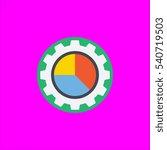 pie chart icon flat disign