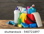 variety house cleaning product... | Shutterstock . vector #540721897