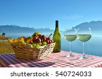 wine and grapes against geneva... | Shutterstock . vector #540724033