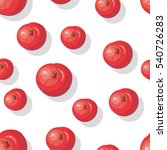 seamless pattern with red... | Shutterstock . vector #540726283