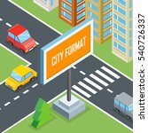 city format. urban crossroads... | Shutterstock . vector #540726337