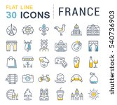 set  line icons in flat design... | Shutterstock . vector #540736903