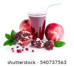 glass of pomegranate juice and... | Shutterstock . vector #540737563