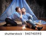 woman whispering rumors in the... | Shutterstock . vector #540740593