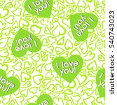 seamless lovely hearts pattern. ... | Shutterstock . vector #540743023