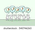 crowd of working little people... | Shutterstock .eps vector #540746263