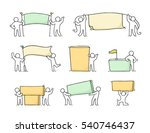 cartoon set of sketch little... | Shutterstock .eps vector #540746437