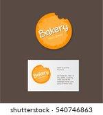 bakery logo. yellow bitten... | Shutterstock .eps vector #540746863
