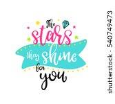 vector hand drawn lettering... | Shutterstock .eps vector #540749473