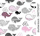 hand drawn seamless pattern... | Shutterstock .eps vector #540752437