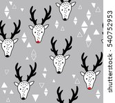 hand drawn seamless pattern... | Shutterstock .eps vector #540752953