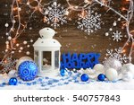 christmas composition with... | Shutterstock . vector #540757843