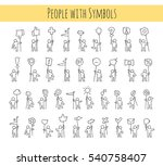 cartoon icons set of sketch...   Shutterstock .eps vector #540758407