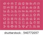 set vector line icons in flat... | Shutterstock .eps vector #540772057