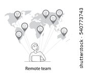 remote team concept  man at... | Shutterstock .eps vector #540773743