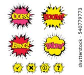 comic boom  wow  oops sound... | Shutterstock .eps vector #540779773