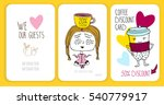 coffee discount card. template... | Shutterstock .eps vector #540779917
