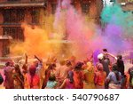 Holi celebration in nepal or...