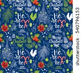 seamless new year pattern on... | Shutterstock .eps vector #540796153